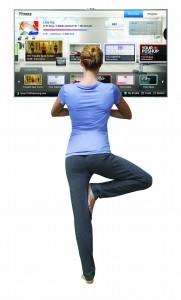A tv-vel edzhetsz (fotó: Samsung)