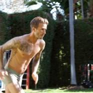 David Beckham gatyában menekül