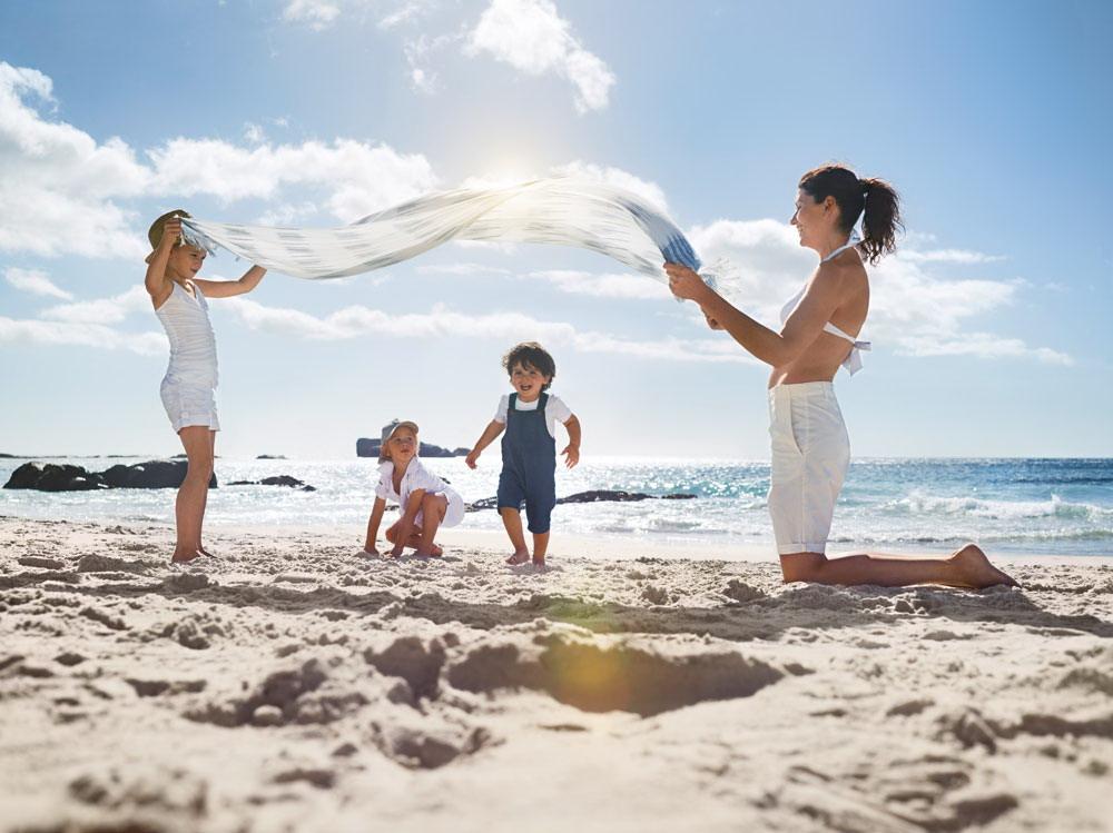 napozós kép gyerekkel