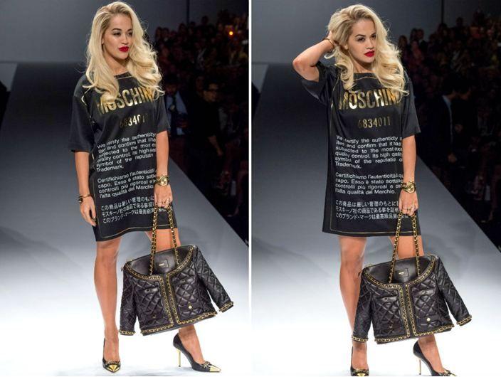 Moschino Fashion show Rita Ora_2014