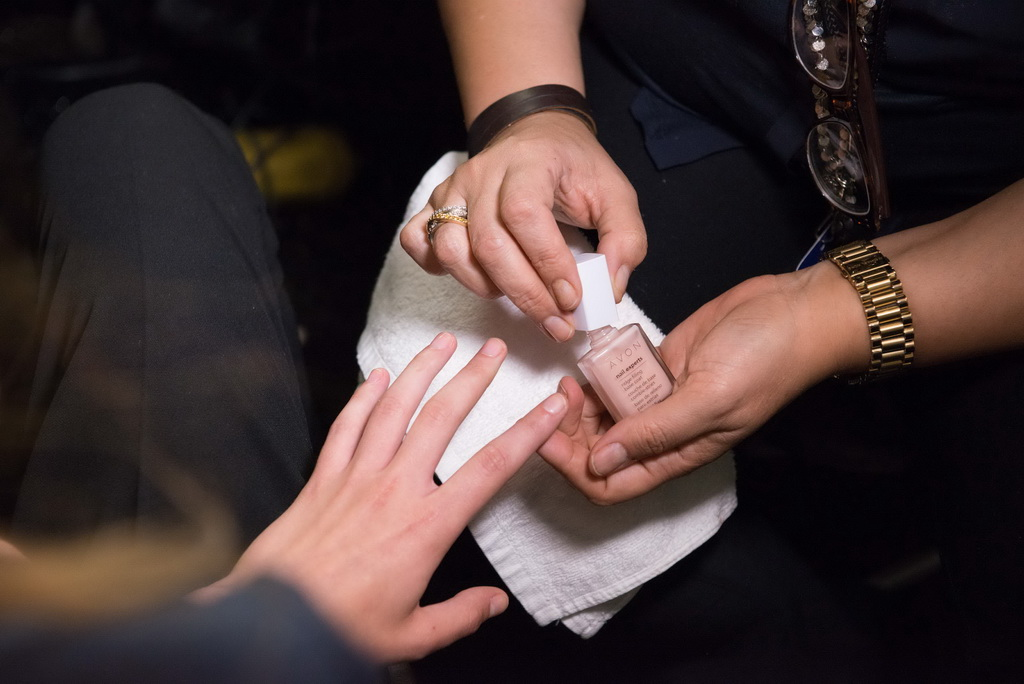 Avon Nail backstage 2