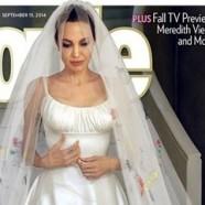 Angelina Versace mennyasszonyi ruhája