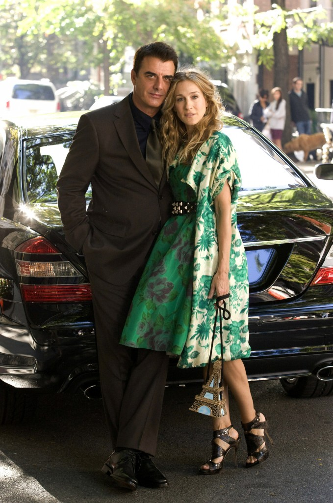 "In this image released by New Line Cinema, Chris Noth stars as Mr. Big, left, and Sarah Jessica Parker stars as Carrie Bradshaw in New Line Cinema's ""Sex and the City"". (AP Photo/New Line Cinema, Craig Blankenhorn) ** NO SALES ** ORG XMIT: NYET135"