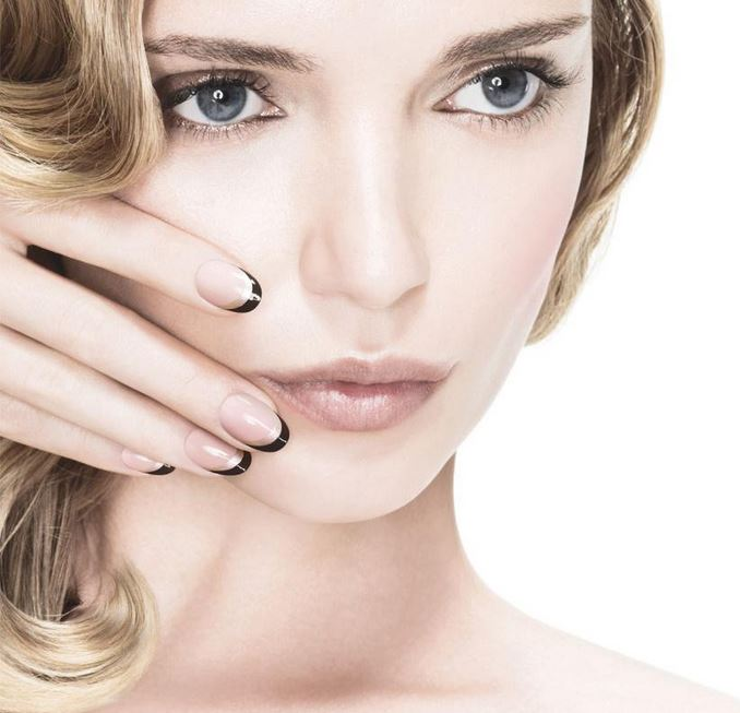 latest_nail_polish_trends_fall_winter_2015_2016_opi_nail_art_simple_easy_black_clear