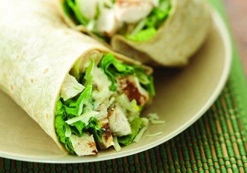 13. Chicken Caesar Wrap