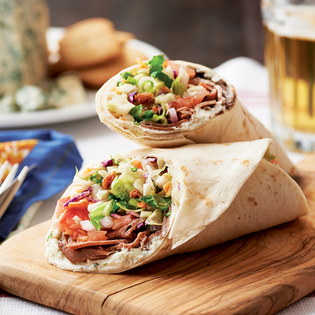 Roast-Beef-Wrap-with--Bacon-and-Bleu-dressed